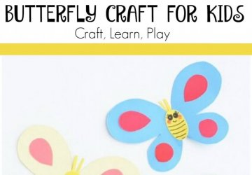 Butterfly Paper Craft For Kids