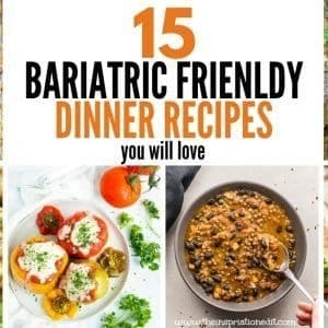 bariatric friendly dinner recipes
