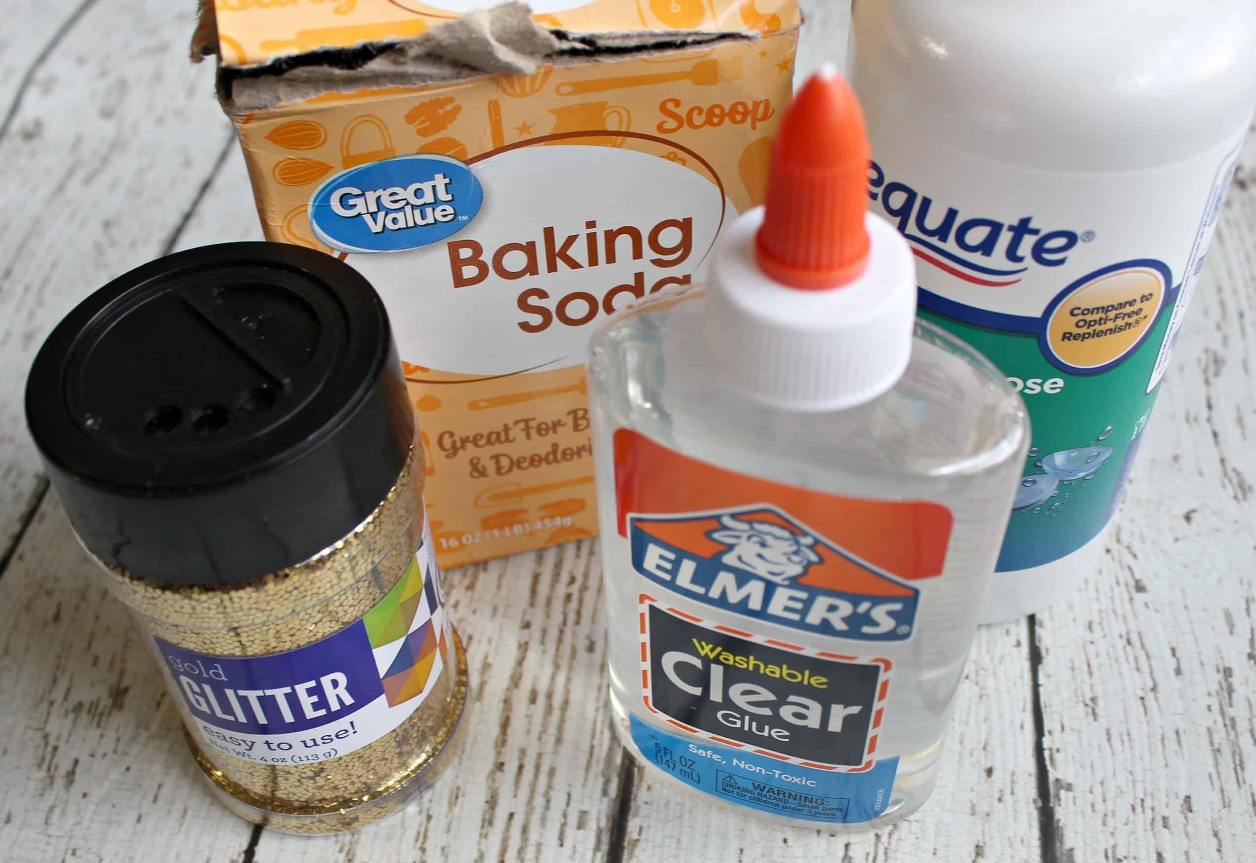 ingredients for glitter slime