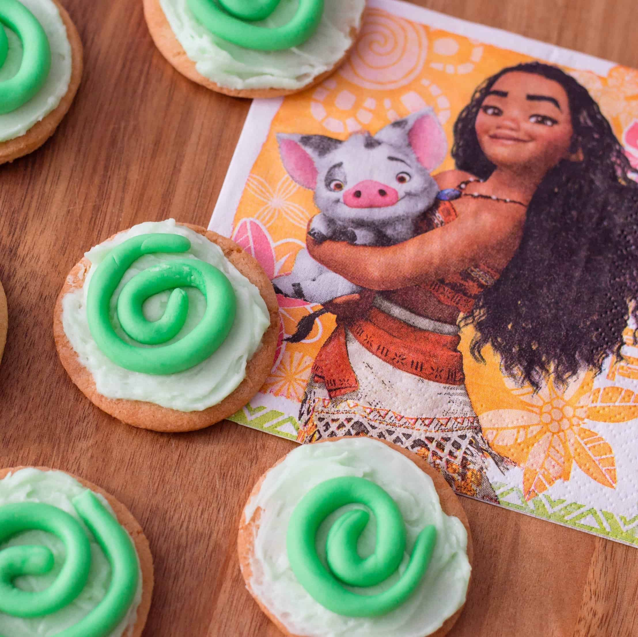 moana cookies for a moana party