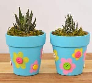flower pot fingerprint craft