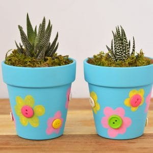 flower pot fingerprint craft