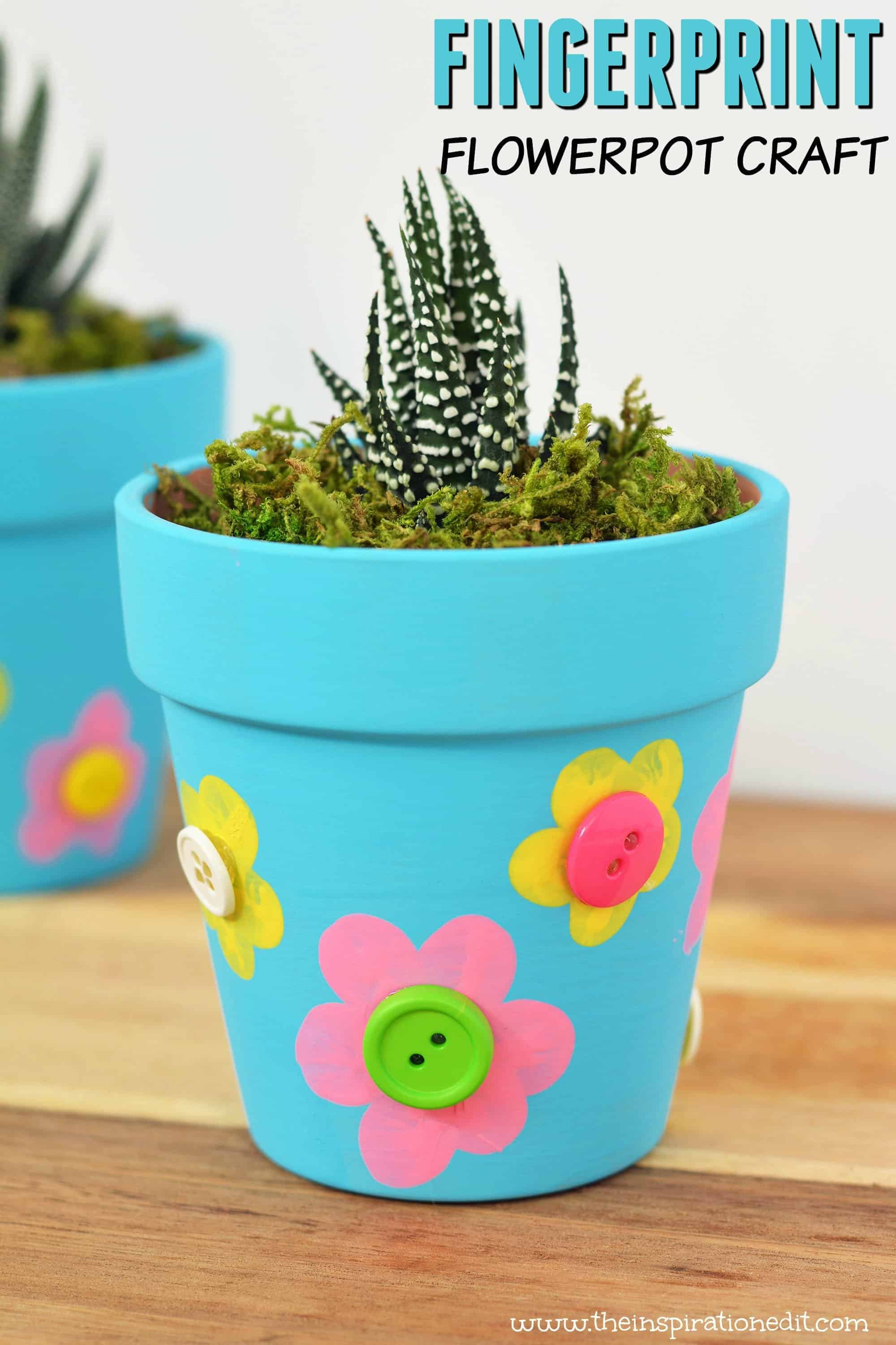 Mothers Day Flower Pot Craft For Kids The Inspiration Edit