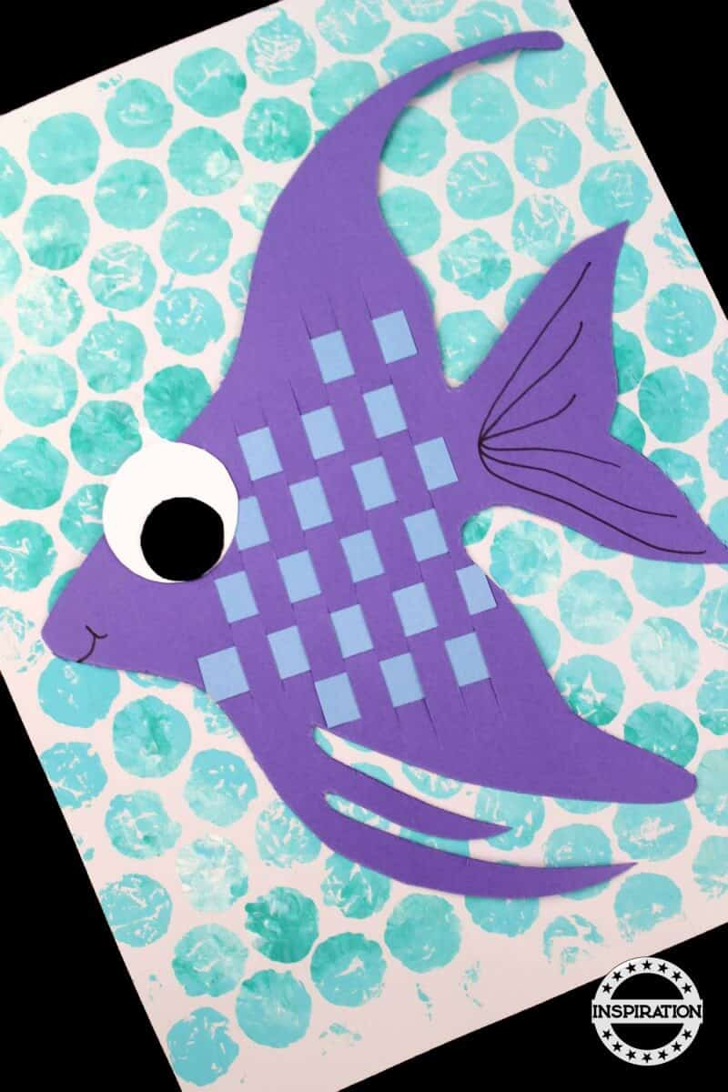 Paper Weave Fish Craft For Kids