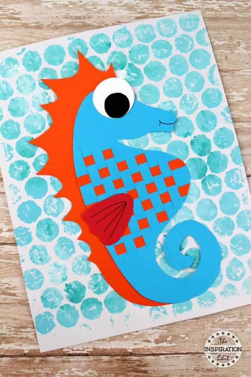 Fantastic Paper Weave Seahorse Craft The Inspiration Edit