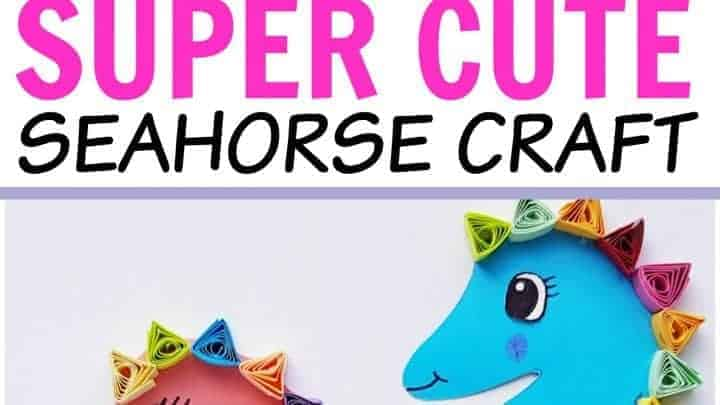 paper seahorse quilling project
