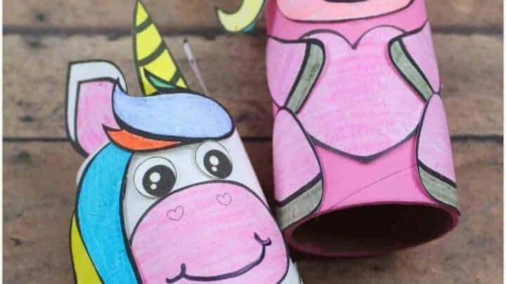unicorn toilet tube craft