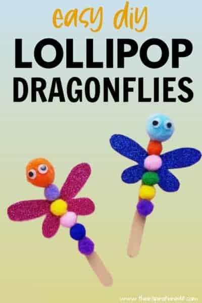 diy lollipop dragonflies