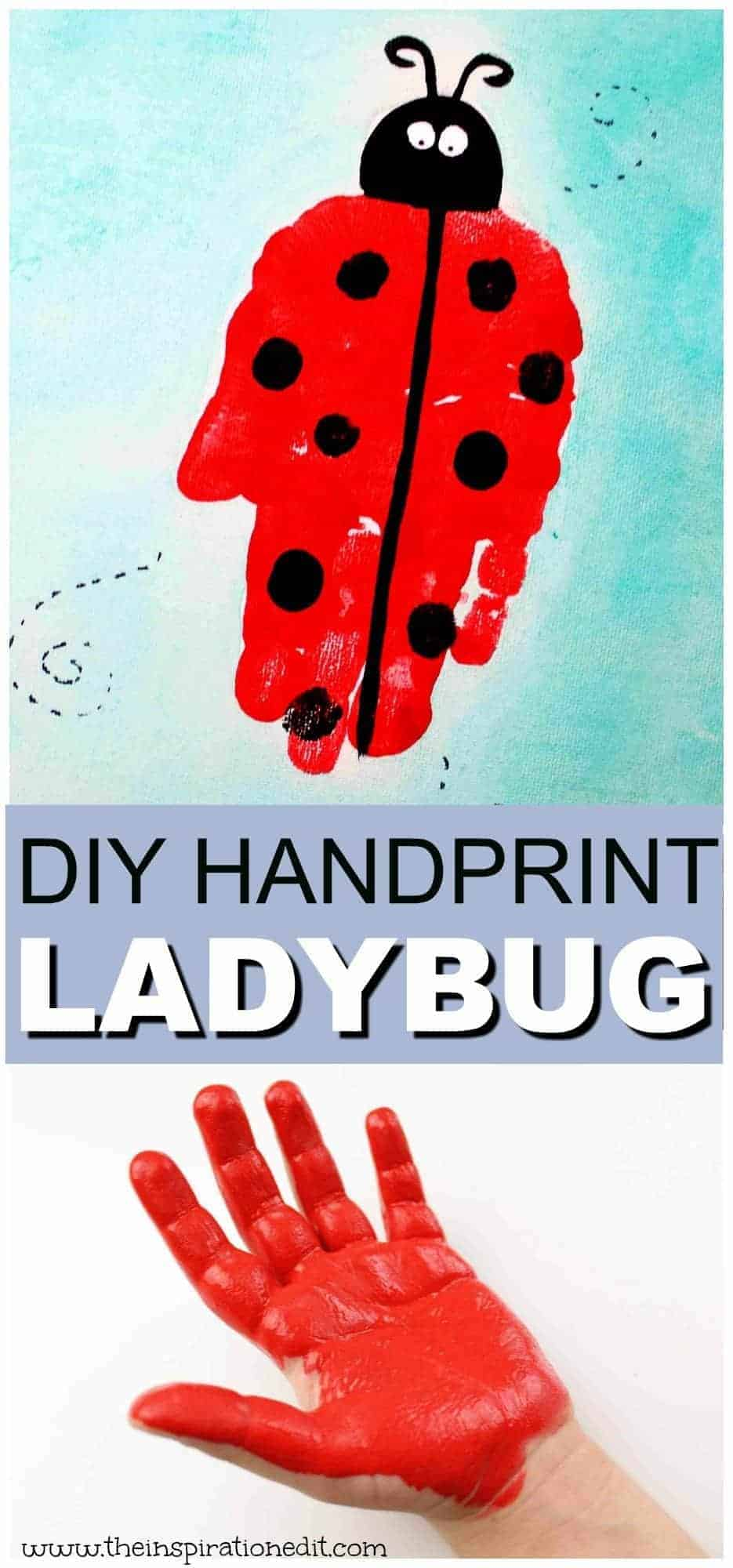 Ladybug Handprint Art For Preschool Kids