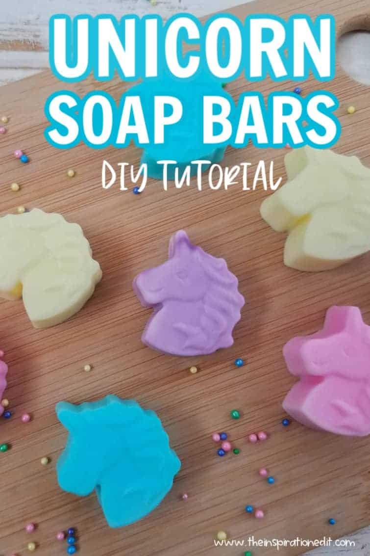 diy unicorn soap bars