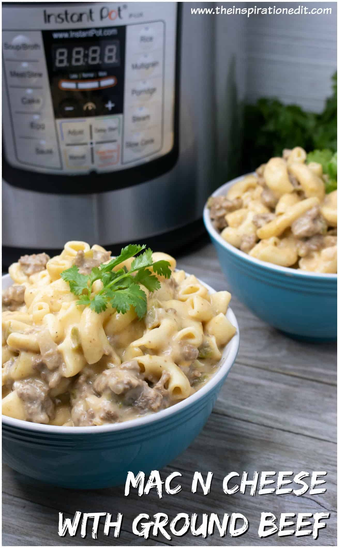 instant pot macaroni and cheese with ground beef