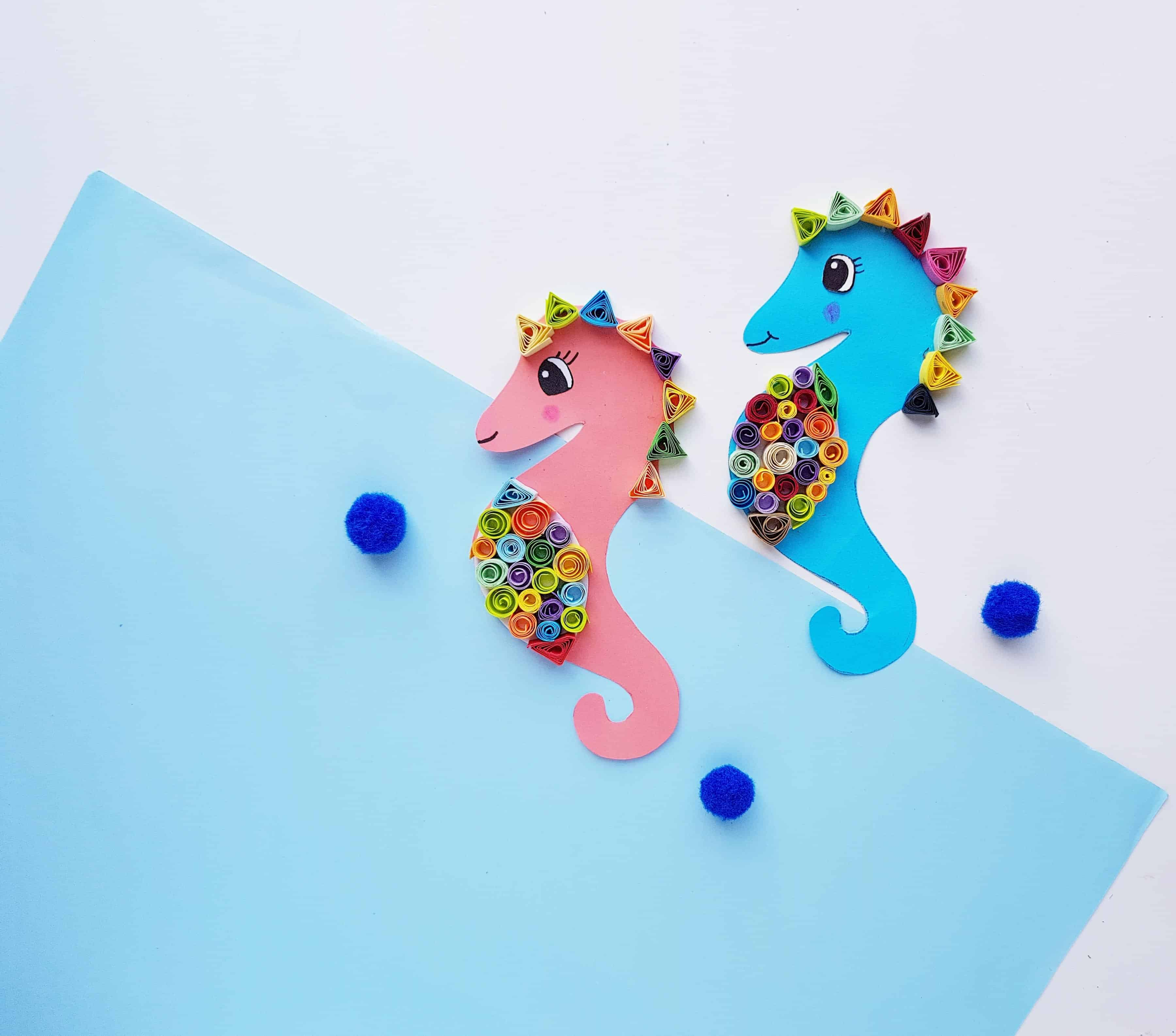 easy paper seahorse