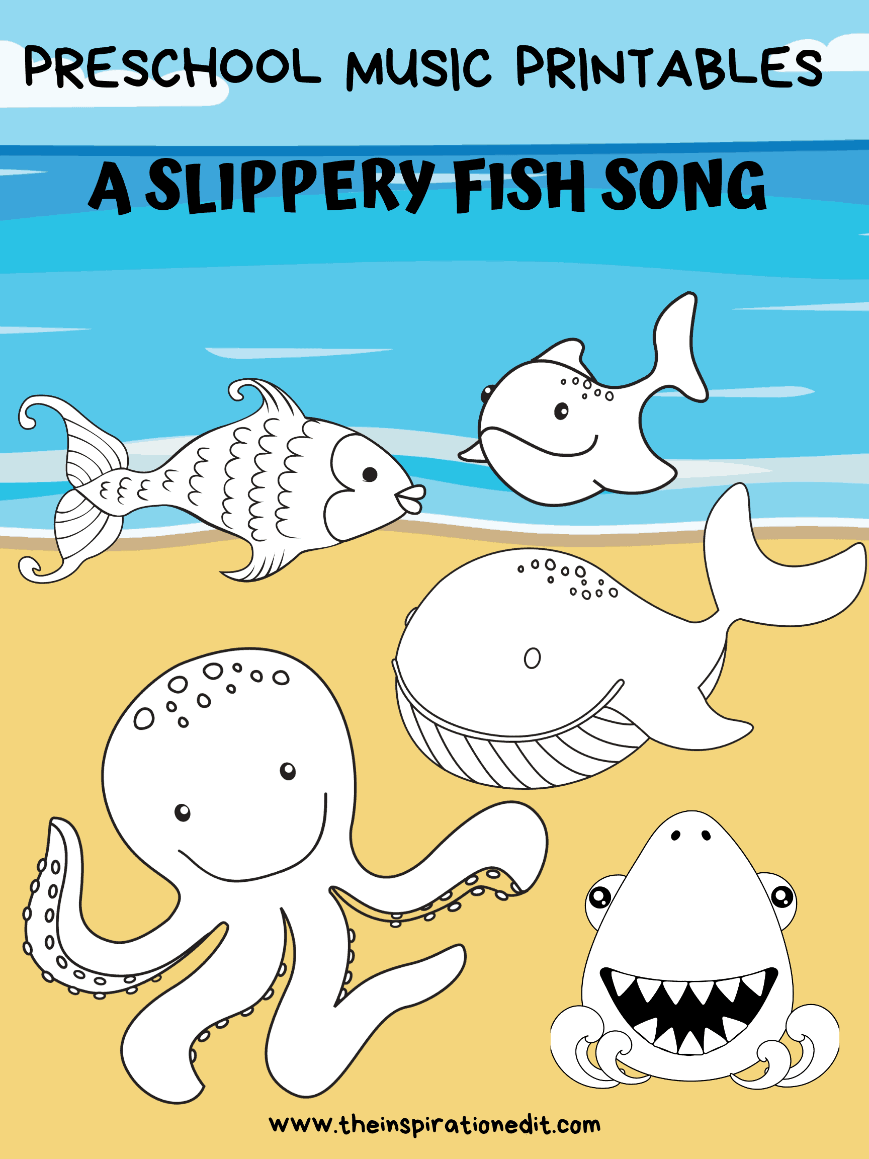 A slippery fish song and printables