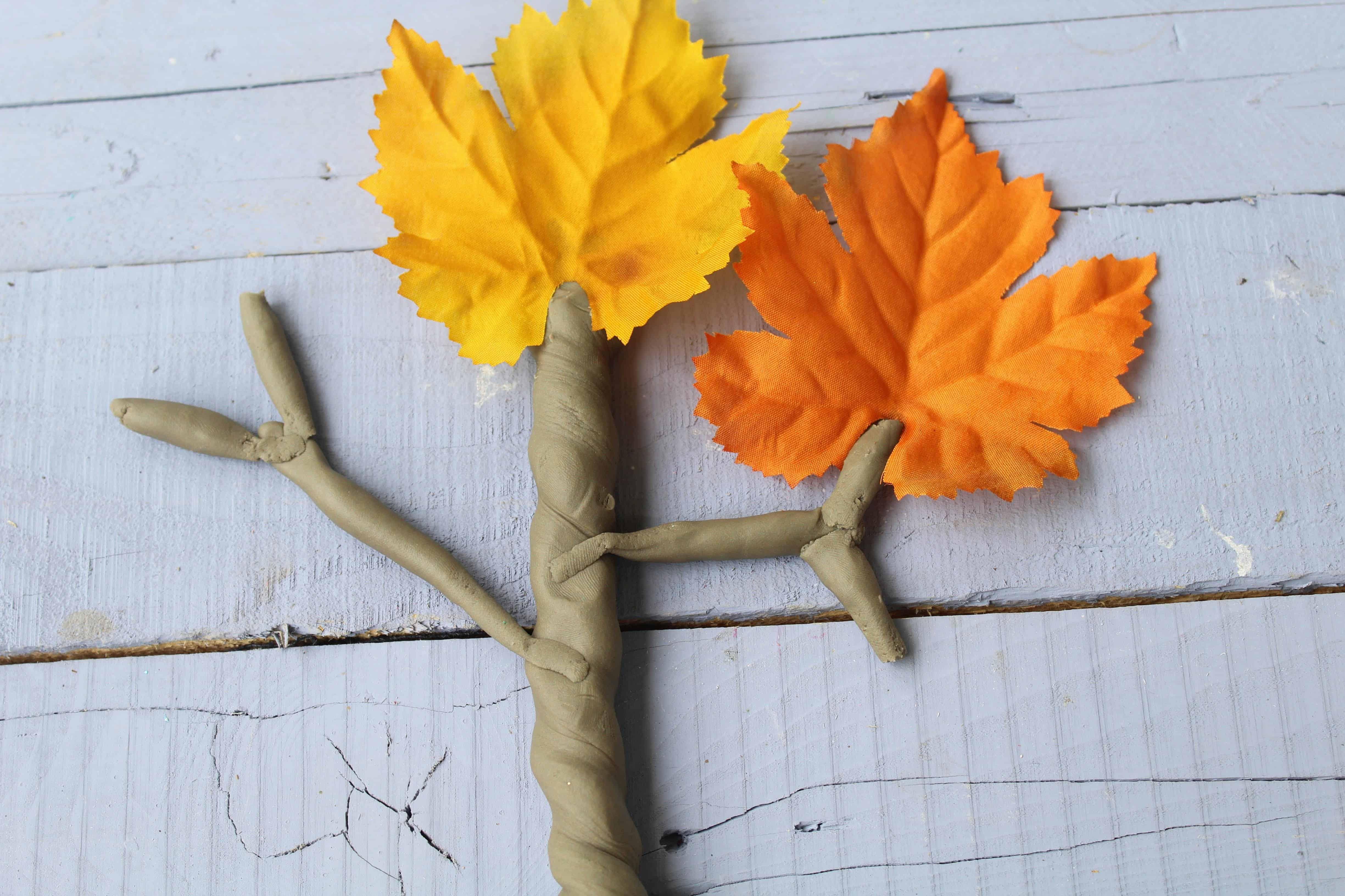 playdough sensory activity for autumn