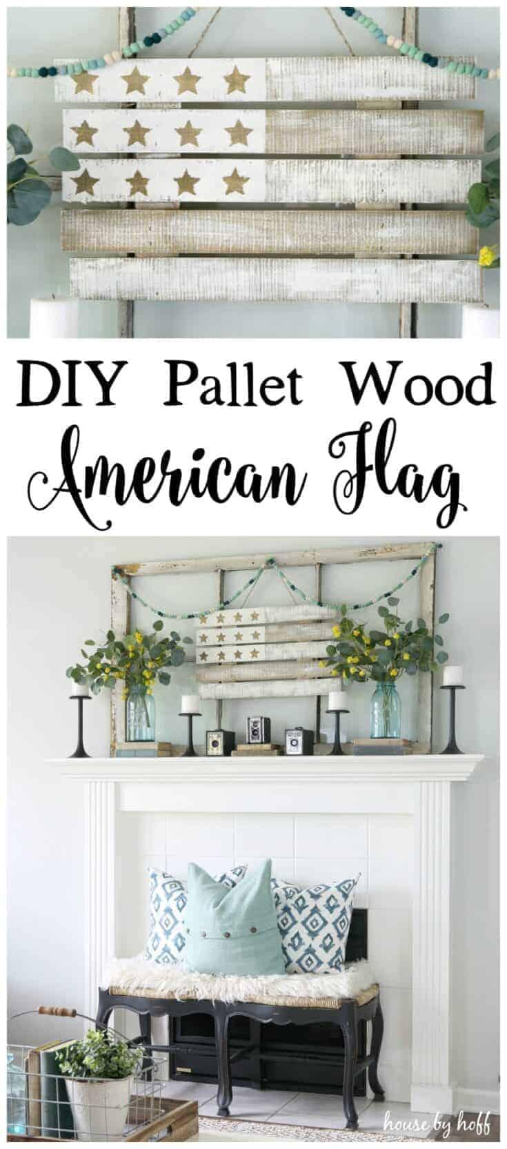 DIY Pallet Wood American Flag