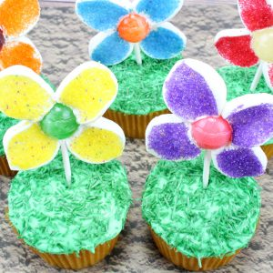 flower cupcakes for spring