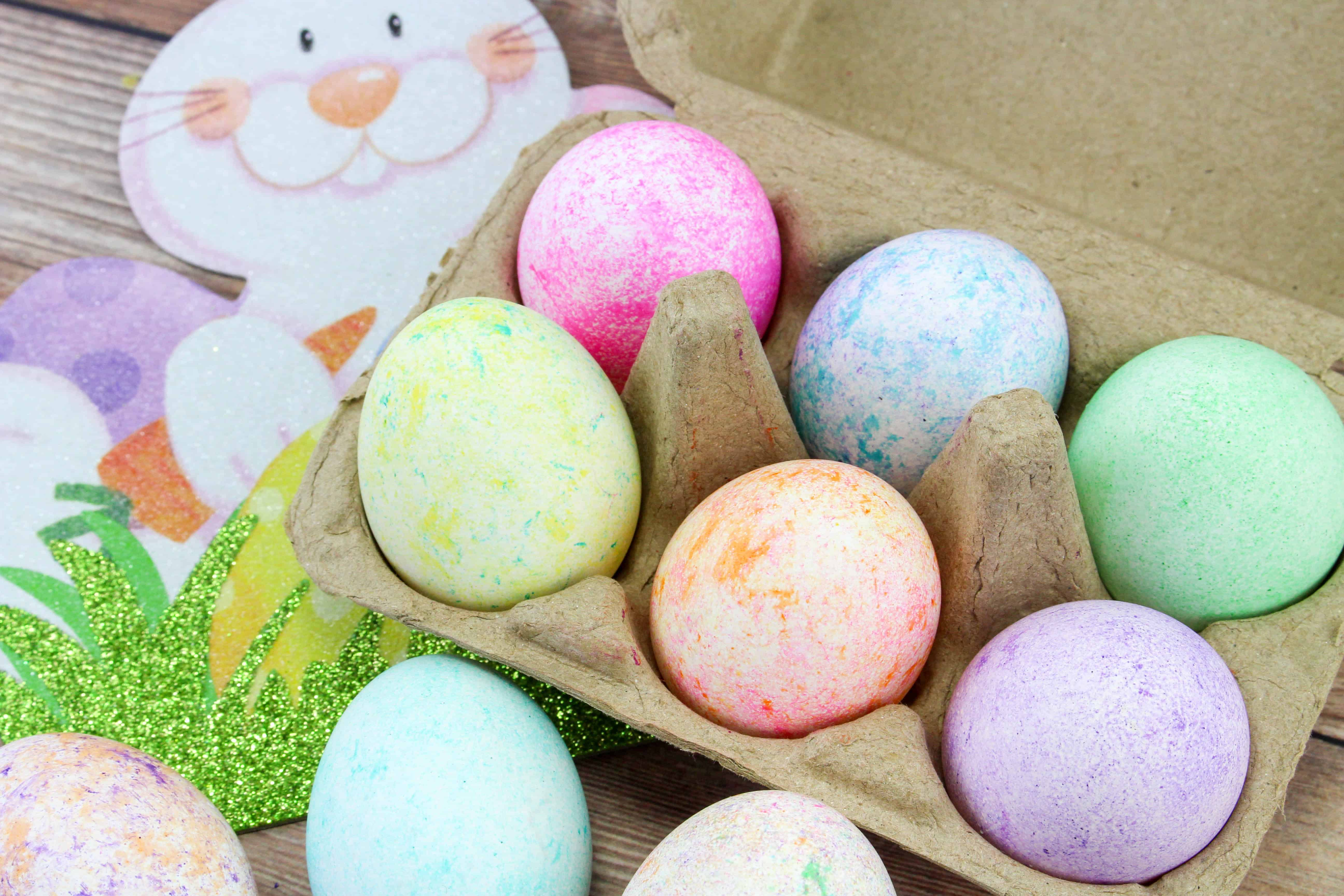 Easter Eggs Dyed with Rice