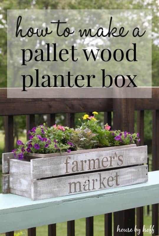 DIY Pallet Wood Planter Box {Summer Celebration 2015!}