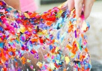Confetti slime recipe
