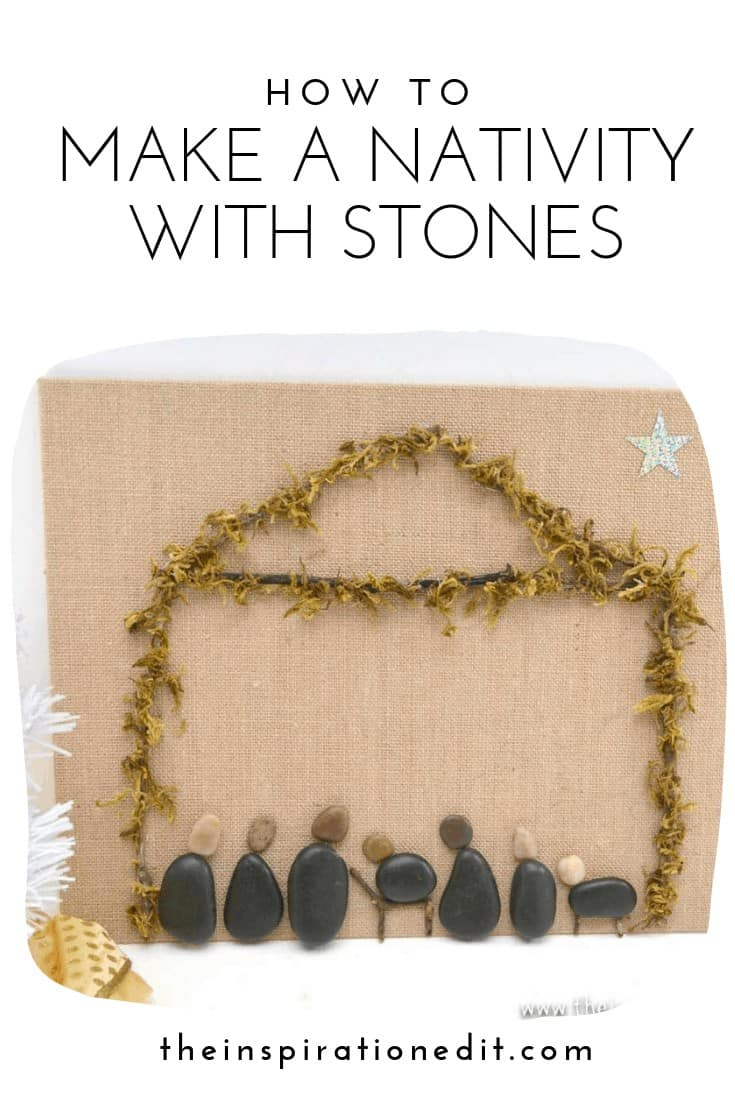 Nativity craft made from stones