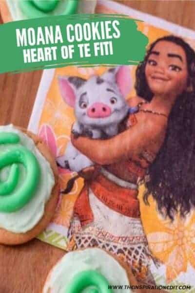 Moana Cookies Heart Of Te Fiti