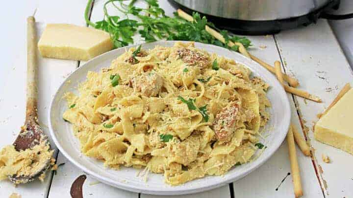 chicken alfredo in the pressure cooker