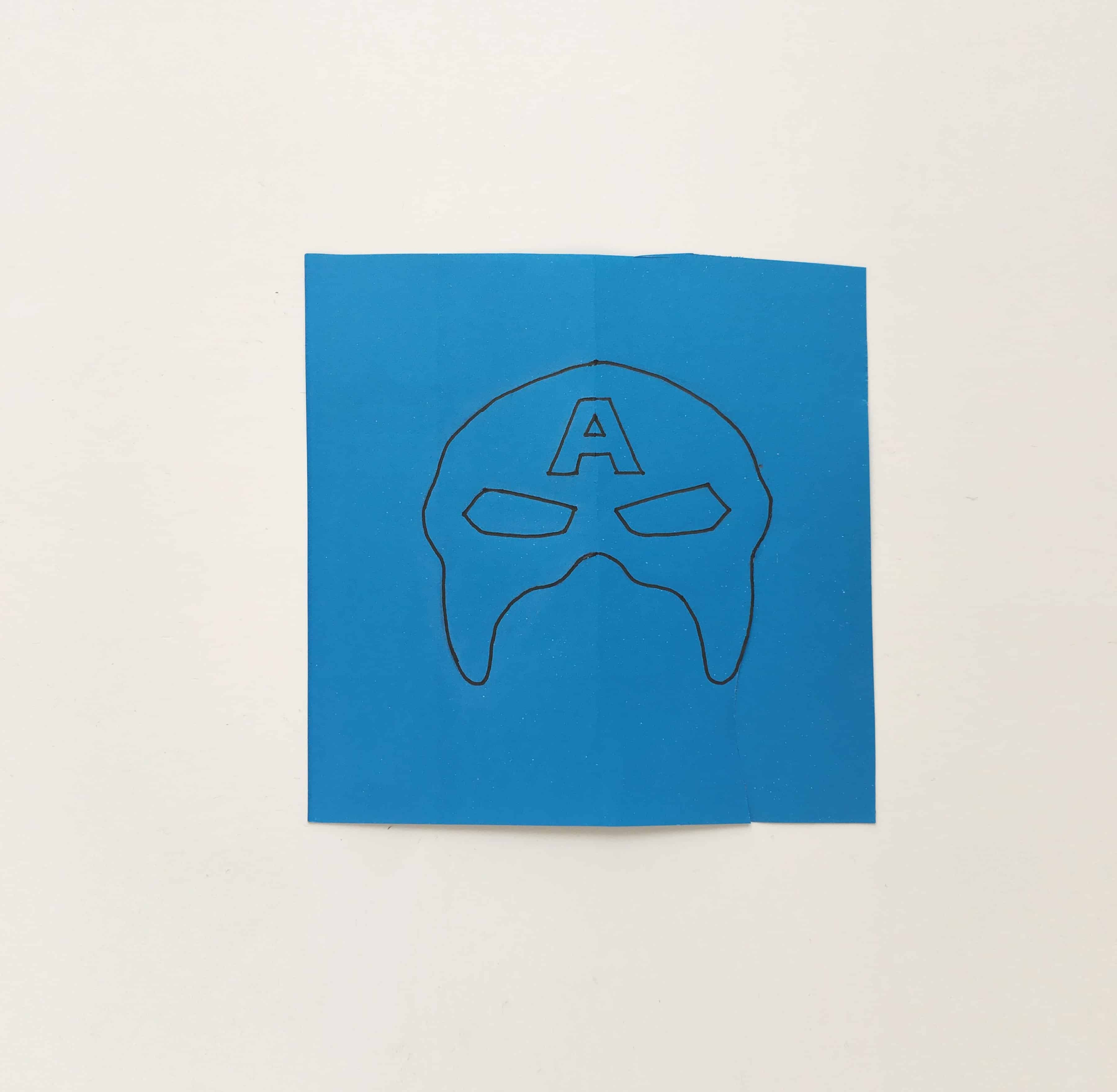 picture about Captain America Mask Printable identified as Captain The us Mask · The Enthusiasm Edit