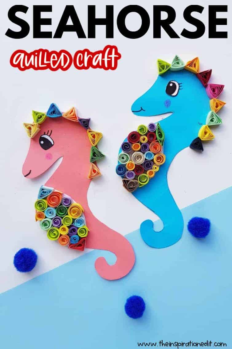 Paper Seahorse Quilling Project The Inspiration Edit
