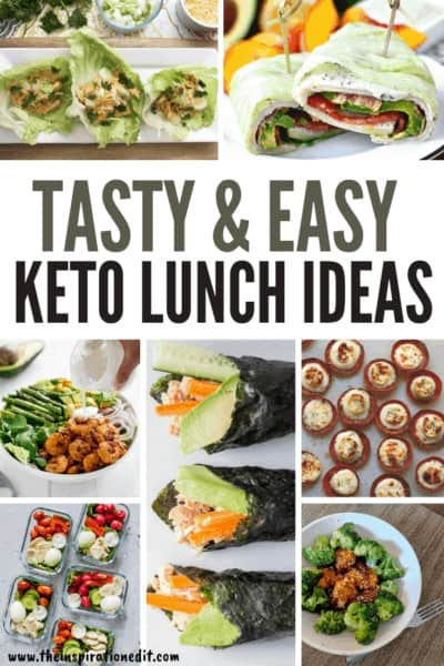 Tasty & Easy Keto Lunch Ideas