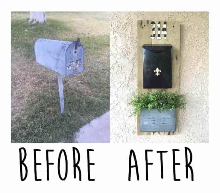 DIY Pallet Farmhouse Mailbox