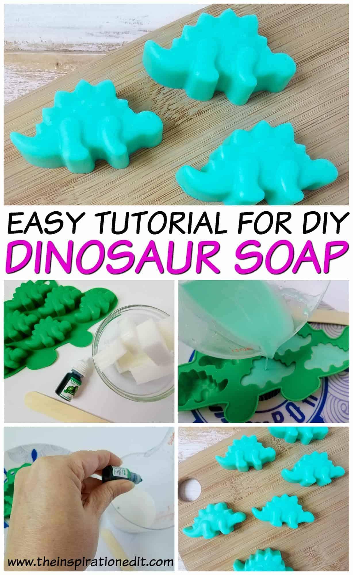 DIY Green Dinosaur Soap