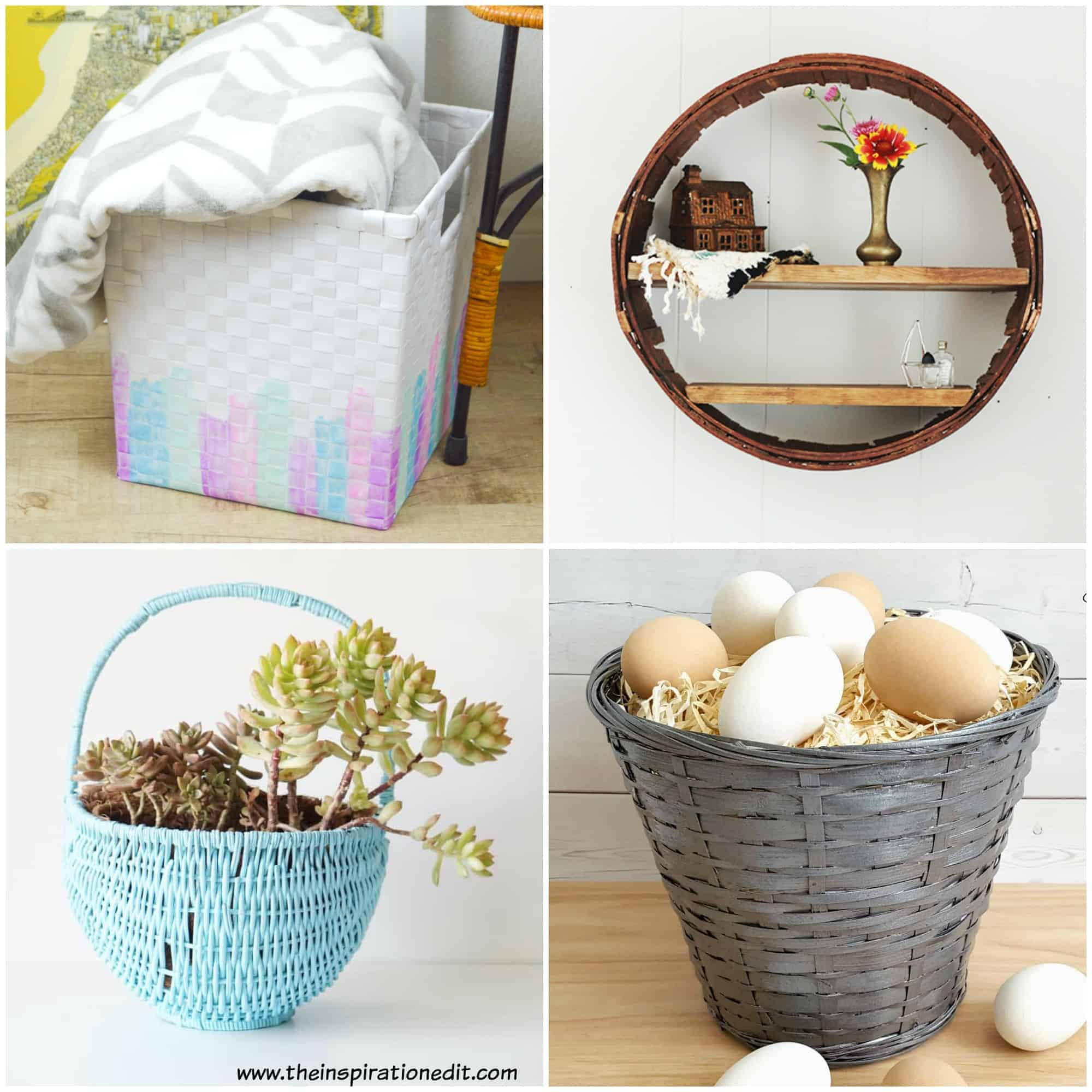 Upcycling Projects Using Baskets