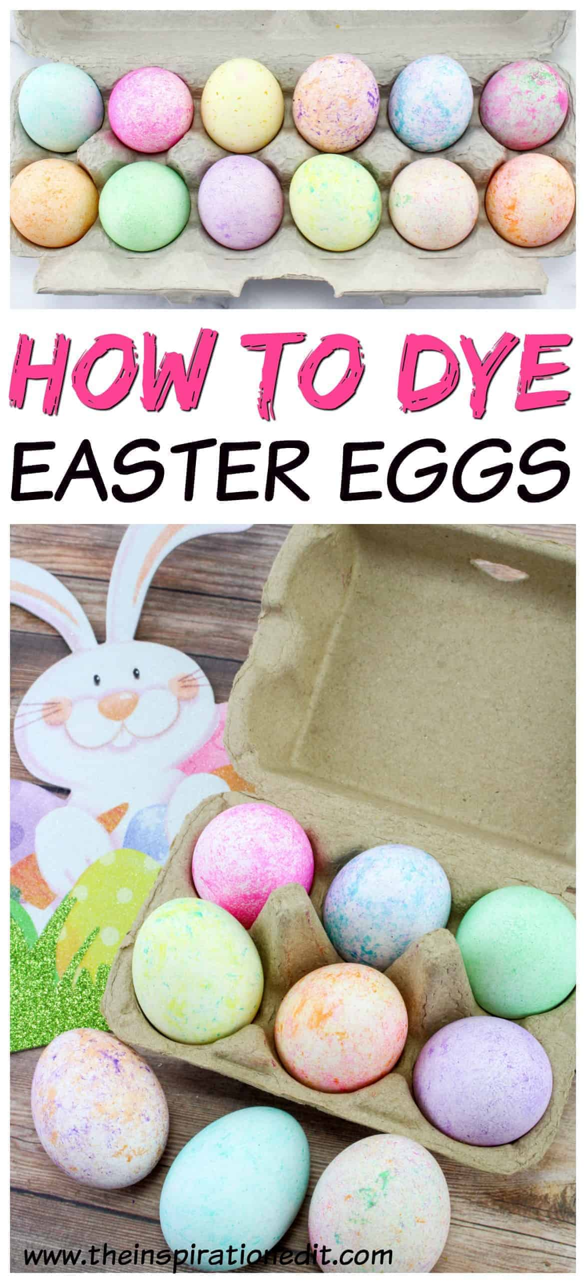 Rice dyed Easter eggs