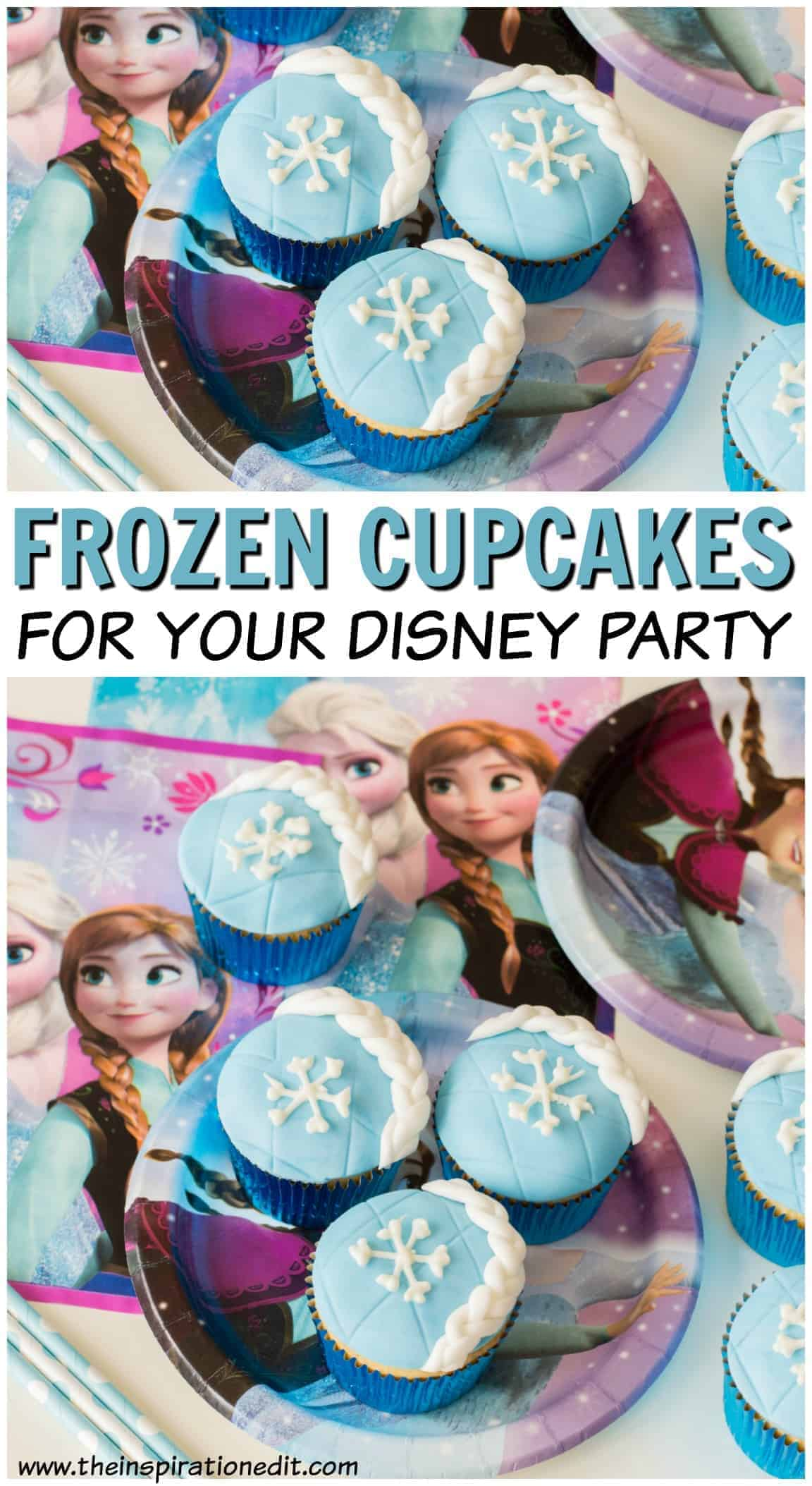 frozen cupcakes for disney party