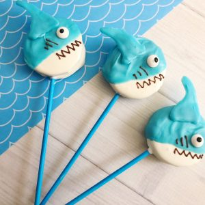 how to make shark cookies