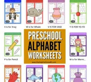 alphabet worksheets with letter tracing