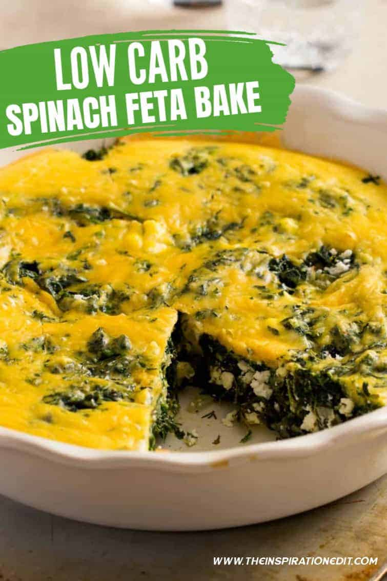 Low carb spinach feta bake