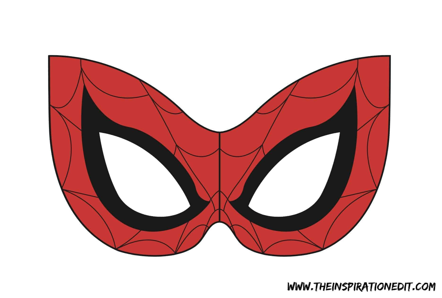 photograph about Spiderman Mask Printable referred to as Spiderman Printable Slice Out Mask - All Pertaining to Of Mask