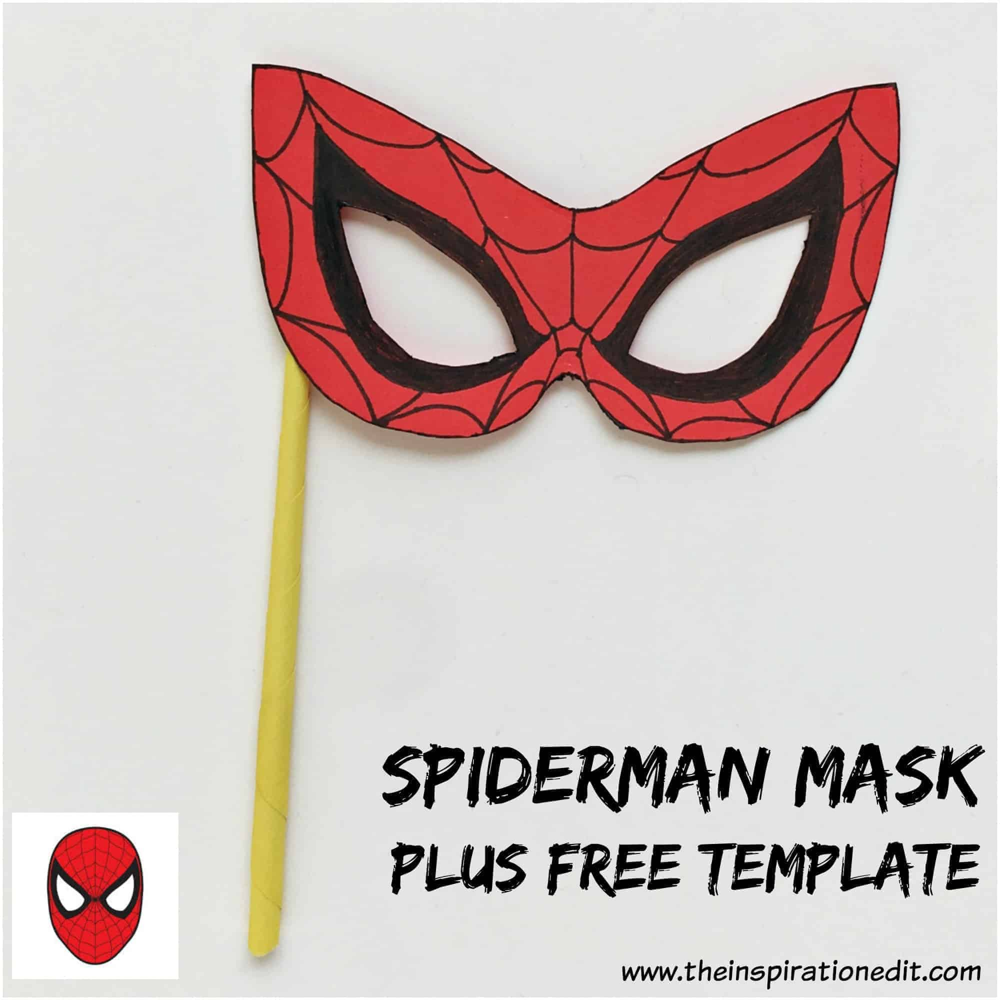 spiderman mask template