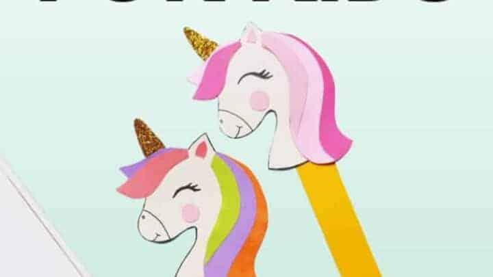 Unicorn bookmarks for kids