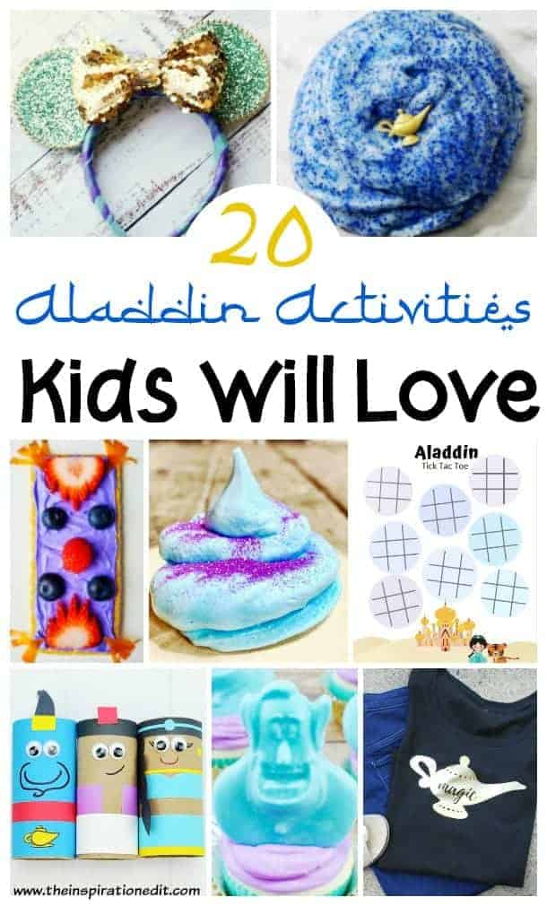 Aladdin activities and aladdin crafts for kids