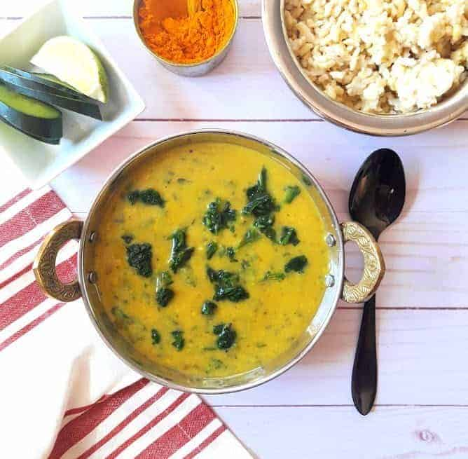 Dal Palak / Spinach Lentil Curry-InstantPot, Vegan - Profusion Curry