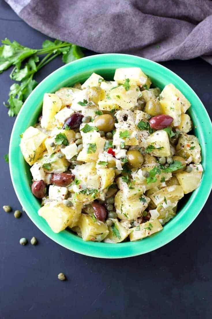 Instant Pot Mediterranean Potato Salad | Garden in the Kitchen