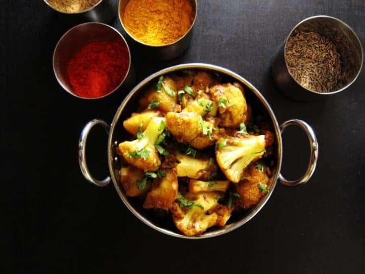 Instant Pot Aloo Gobi - Spicy Indian Cauliflower and Potato