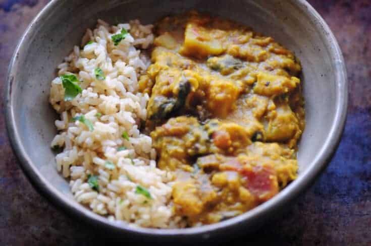 Instant Pot Red Lentil & Potato Curry (Vegan, Gluten-Free)