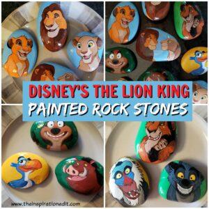 Lion king painted rocks