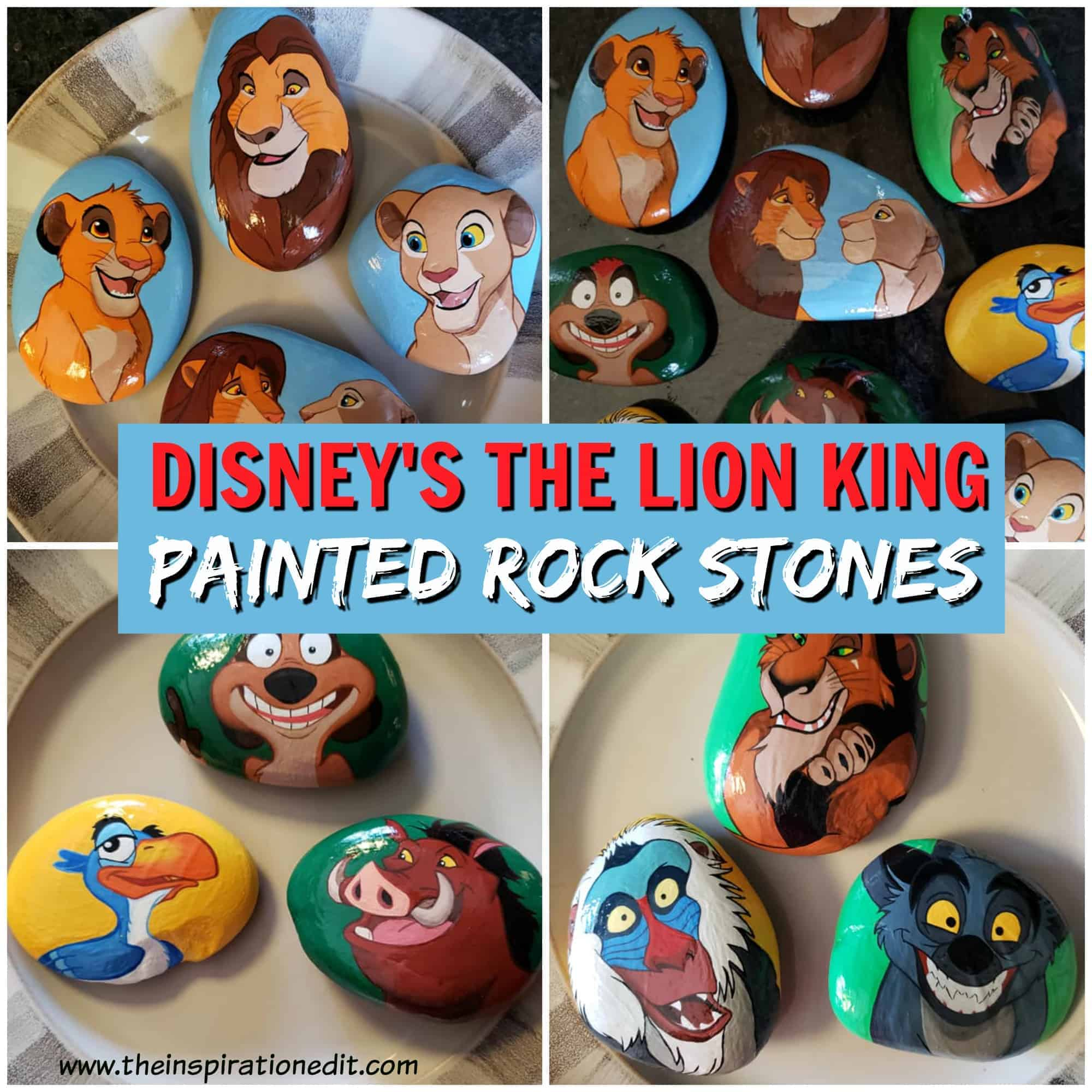 Lion king painted rocks