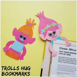 Hug Time Poppy Troll Corner Bookmarks