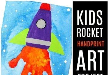 handprint rocket art