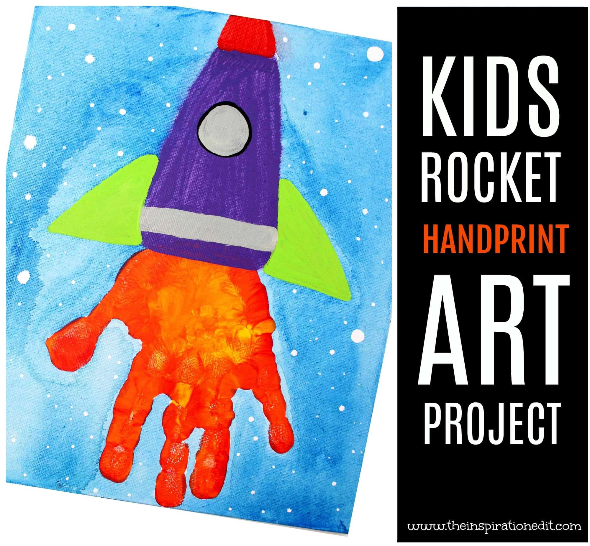 handprint rocket art